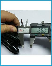 PSE认证电源线AC两插带地线品字尾